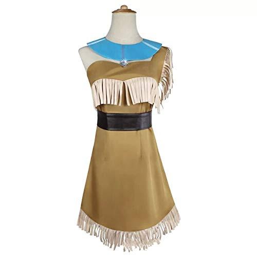 thematys Pocahontas Indianer Kostüm für Damen - perfekt für Cosplay & Karneval - 4 Verschiedene Größen (M)