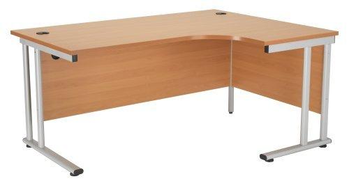 Relax Biuro Smart 1600 mm prawy półksiężyc biurko płoza drewniany biuro biurko ergonomiczne meble, stanowisko robocze, narożne biurko, komputer, stół PC, rama bukowa