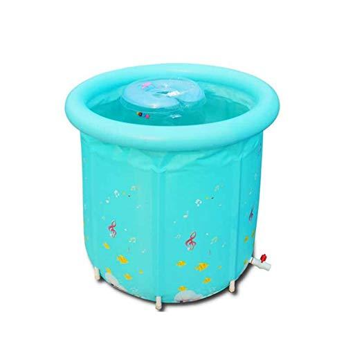 FGF Aufblasbare badewanne neugeborenen Schwimmbad umweltfreundlich dicken Nylon Tuch Isolierung Baby schwimmeimer 85 * 90cm 123 (Color : A)