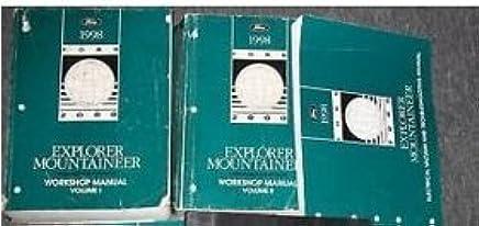 1998 ford explorer & mercury mountaineer truck service shop repair manual  set paperback – 1998