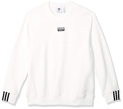 adidas Herren Sweatshirt F A Crew, core White, L, FM2261