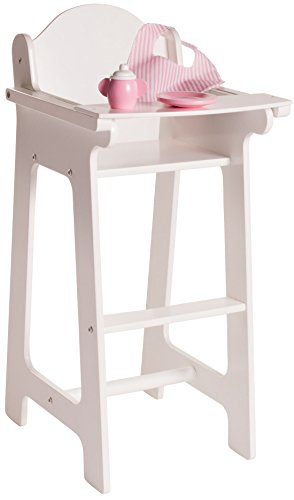 Playtime by Eimmie 18 Inch Doll Furniture High Chair Set w/Accessories