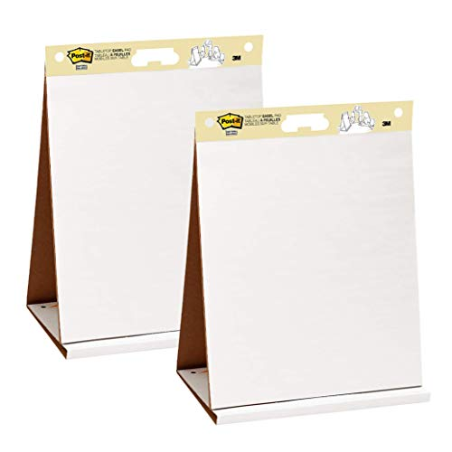 Post-it Super Sticky Portable Tabletop Easel Pad, Great for Virtual Teachers and Students, 20x23 Inches, 20 Sheets,Pad, 2 Pads (563 VAD 2PK)