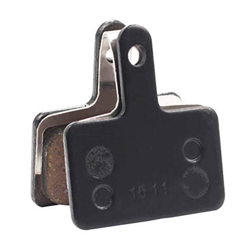 Acero con Reverso de Resina, 2 Unidades Pastillas de Freno de Disco y Resorte para Bicicleta SHIMANO B01S Color Negro