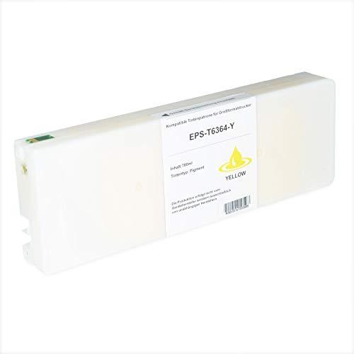 Tintenpatrone kompatibel für Epson Stylus T6364 C13T636400 Pro WT 7700 7890 7900 9700 9890 9900 SpectroProofer UV Series EFI - Yellow 700ml