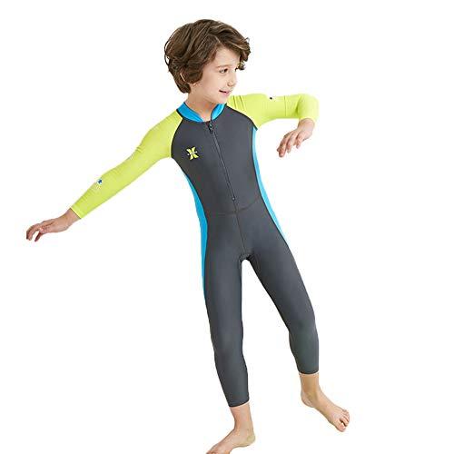 Zizimo Tauchanzug Für Kinder Mädchen Jungen Badeanzug Voll Uv-Schutz UPF 50+ Lange Ärmel Schwimmanzug Einteiler Unisex Bademode Wassersport Neoprenanzüge Wassersport