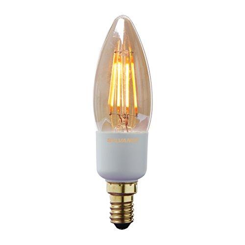 Sylvania Toledo 0027113 Rétro Compatible avec variateur d'intensité Bougie Lampe LED Flux lumineux, 260LM, E14/Base, finition dorée, en verre, magmaglow, E14, 4,5 watts