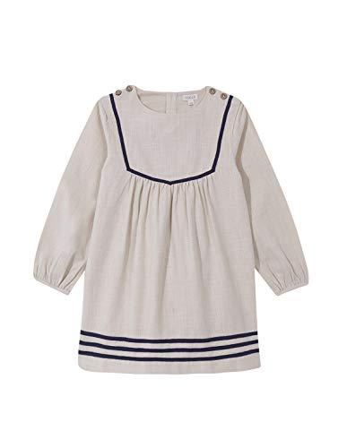 Gocco Vestido ALGODÓN RÚSTICO Crudo Dress, Piedra, 43864 para Niñas