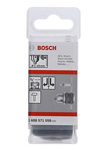 """Bosch Professional 1608571058 Zahnkranzbohrfutter (Spannbereich, Aufnahme 3/8""""-24, Rechts-und Linkslauf, Zubehör Bohrmaschine), Mehrfarbig, 1-10 mm"""