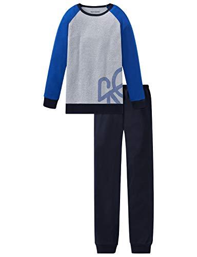 Schiesser Jungen Anzug lang Zweiteiliger Schlafanzug, Grau (Grau-Mel. 202), (Herstellergröße: 176)