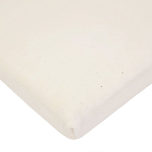 American Baby Company Organic Fitted Cotton Velour Bassinet Sheet, Natural