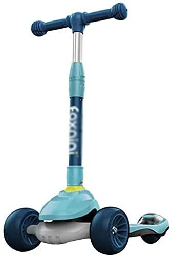 WYQ-BB patinetes para niños Scooter Infantil, Ruedas de Altura, Ajustable en Altura, Llantas Que parpadean, Impresionantes para niños Scooter y Caminante de 3-12 años de vespotores ( Color : Blue )