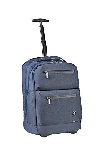 Wenger CityPatrol Laptoprucksack - Rucksack mit Rollen Trolley 16\'\' Laptopfach RFID-Schutztasche Damen/Herren - Blau