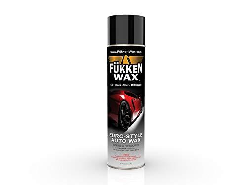 Fukken Wax Premium Spray-On Car Wax with Improved Formula. Big 17.05oz Aerosol Can Carnauba from Brazilian Palm. Get Brighter, Longer Lasting Shine