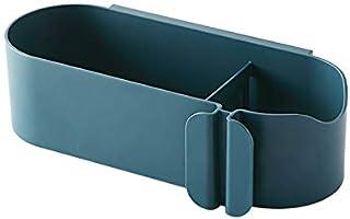 強力粘着固定 浴室用ラック シャワーラック 洗面所 収納 お風呂 収納 壁掛け 棚 お風呂 ラック ドライヤーホルダー ヘアドライヤーホルダー 壁掛け ドライヤースタンド 穴あけ不要(ブルー)