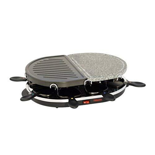 Tristar Raclette Grill/ Steingrill für bis zu 8 Personen - mit 8 Pfännchen, RA-2946