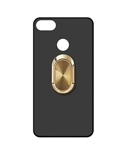 Sunrive Kompatibel mit Nubia NX595J Z17S Hülle Silikon, 360°drehbarer Ständer Ring Fingerhalter Fingerhalterung Handyhülle matt Schutzhülle Etui Hülle (A4 Golden) MEHRWEG