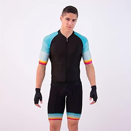 Camiseta de ciclismo de equipo profesional de triatlón, mono de una pieza, camiseta de ciclismo para hombre (Color : 3, Size : XX-Small)
