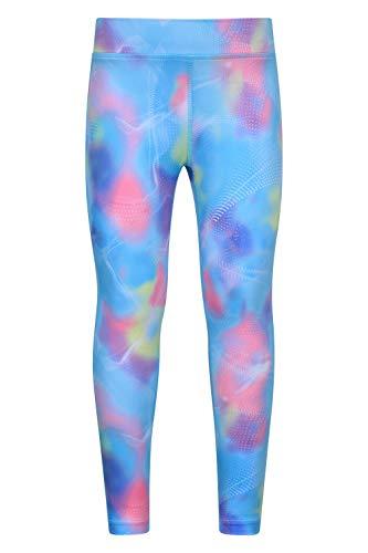 Mountain Warehouse Leggings Estampados para niñas - Pantalones Ligeros, elásticos, de Secado rápido y antipilling - para Hacer Deporte, Viajes y Vacaciones Azul 5-6 Años