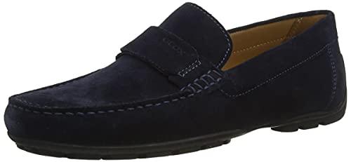 Geox Men's U Moner A Loafer Flat, Navy, 9 UK