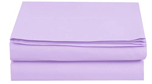 Elegant Comfort Premium Hotel 1-Piece, Luxury and Softest 1500 Thread Count Egyptian Quality Bedding Flat Sheet, Wrinkle-Free, Stain-Resistant 100% Hypoallergenic, Queen, Lavender