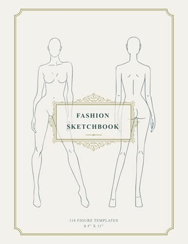 Fashion Sketchbook with Figure Templates: 8.5