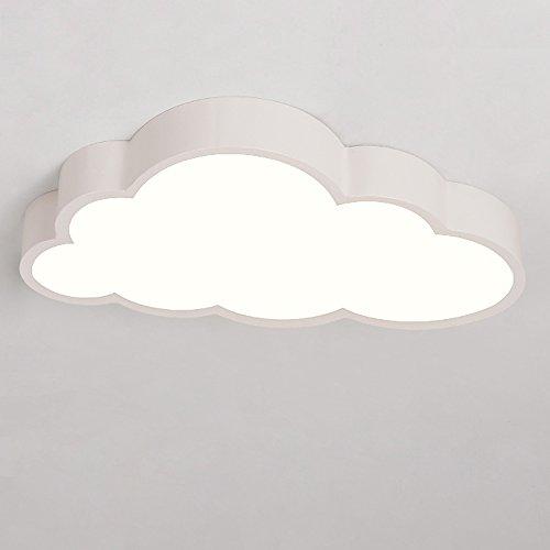 Luce moderna soffitto a soffitto Luce acrilica bianca Luce Shade Forma a forma di nuvola Ferro da stiro luce da parete naturale 24W per soggiorno Camera da letto Sala da pranzo Sala da pranzo L50CM * W28CM * H8CM