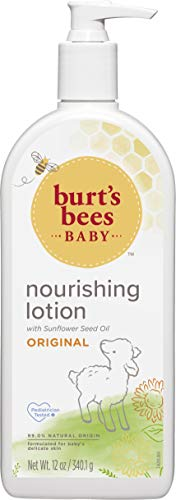 Burt's Bees Baby Nourishing Lotion, Original Scent Baby Lotion - 12 Ounce Tube