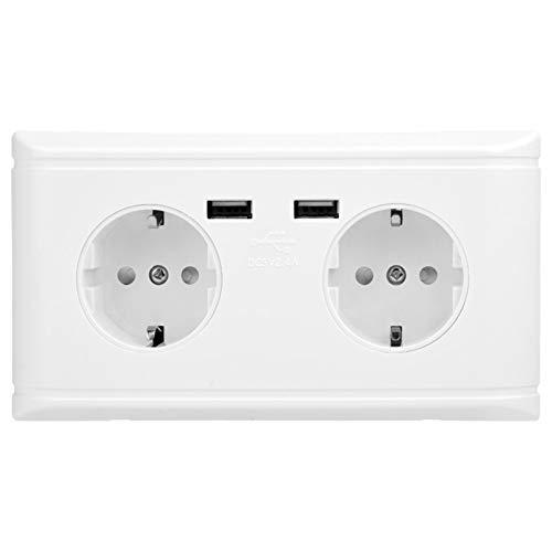 Caja fuerte del enchufe de pared del tomacorriente de pared USB, para el hogar, la oficina, el hotel