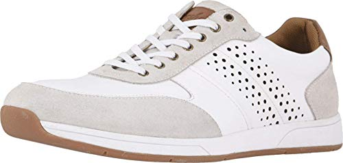 Florsheim Unisex Fusion Moc Toe Lace-up Ii Sneaker, White Smooth/Suede, 10.5 US Women