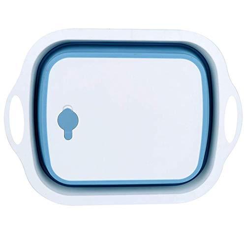 Nrpfell Planche à DéCouper Pliable avec Passoire - Planche à DéCouper Pliable, Bac à Vaisselle Multifonction pour Panier de Lavage de LéGumes