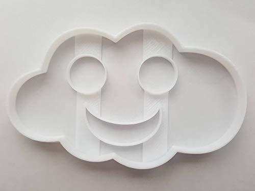 Smile Cloud - Stampino per biscotti a forma di nuvola di sorriso, per pasta e pasta di zucchero, per pasta e fondente tagliente, con stampa a forma di volo, taglia