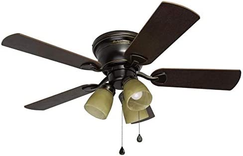 lowest Harbor Breeze Centreville 42-in Oil-Rubbed Bronze online sale Indoor Flush Mount Ceiling Fan with Light discount Kit outlet online sale
