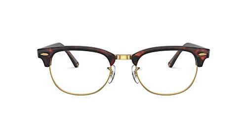 Ray-Ban Rx5154 Clubmaster Gafas, Mock Tortoise, 49 Unisex
