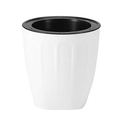 Pot de Fleurs/Résine Plastique Imitation Céramique PP Culture de l'eau Pot de Fleurs Multi-Viande Pot de Stockage à arrosage Automatique Pot de Plantes Vertes Pot de Fleurs Vertes (2 pcs)