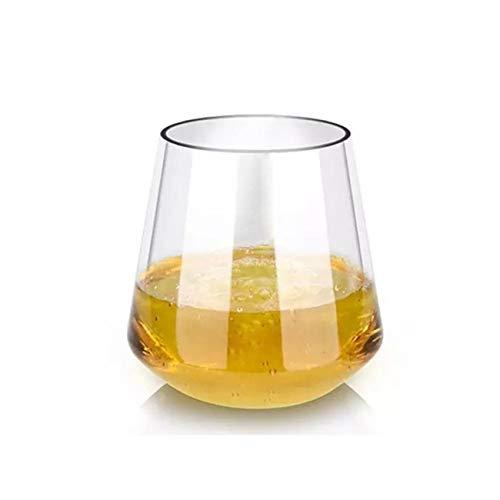 WxberG Copas de vino de 17 onzas sin tallo, resistentes al calor para capuchino, macchiato, latte, té, zumo, bebidas calientes y calientes