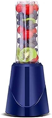 Portable Electric Juicer Blender Fruit Baby Food Milkshake Mixer Meat Grinder Multifunction Juice Maker Machine EU Plug (Color : Blue)