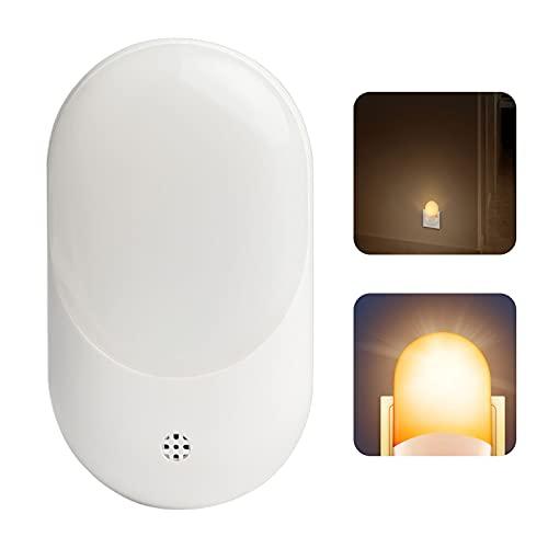 Topwor Luz Nocturna Infantil Enchufe,LED Lámpara Nocturna con Sensor de Luz Automático, 2800-3000K, Luz Quitamiedos para Habitación Bebé Dormitorio Sala Baño