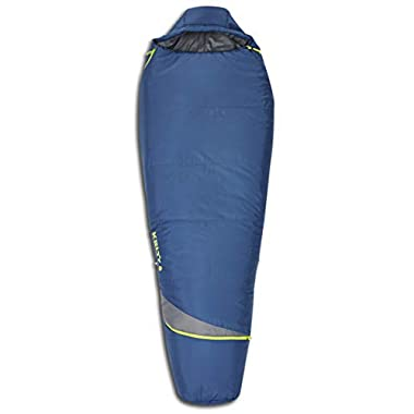 Kelty Tuck 22F Degree Mummy Sleeping Bag – 3 Season Ultralight Sleeping Bag with Thermal Pocket Hood, Zippered Opening in Footbox. Lightweight Traveling Backpacking Tent/Hammock Camping Sleep System – Stuff Sack Included