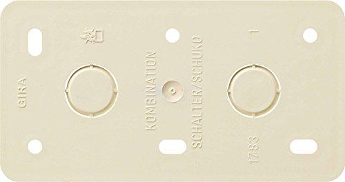 Gira Montageplatte 2f.CWS 008013 AP Aufputz IP20 Bodenplatte für Aufputzinstallation 4010337080138
