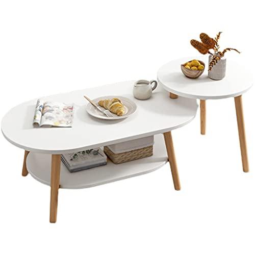 Mesa de centro pequeña Mesa de café combinación de café mesa de té de mesa de té mesa de cóctel, usado para sala de estar sala de estar sofá mesa de estante lateral pequeñas mesas de centro sala de es