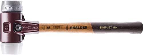 Halder 3079.060 SIMPLEX-Schonhammer mit Stahlgussgehäuse und Holzstiel, Ø 60, Superplastik/Weichmetall