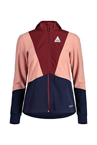 Maloja W Balfim. Jacke Colorblock-Blau-Pink, Damen Gore-Tex Softshelljacke, Größe M - Farbe Night Sky Multi