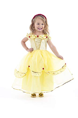 Little Adventures Deluxe Yellow Beauty Princess Dress Up Costume (Small Age 1-3)