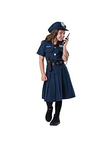 Dress Up America Disfraz niña Vestido de Oficial de policía descarado, Color Azul, Talla 1-2 años (Cintura: 61-66, Altura: 84-91cm) (855-T2)