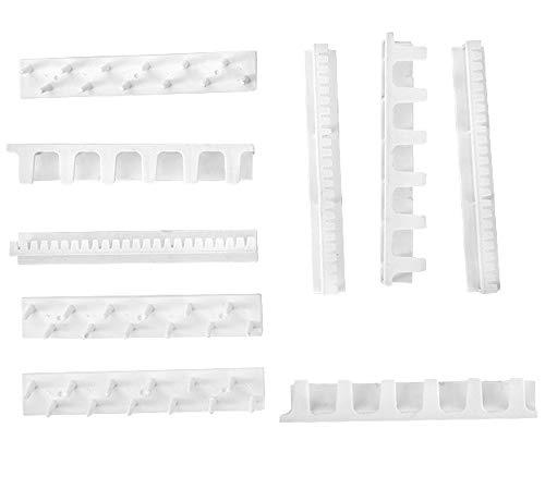 YngFfb percha de collares, 9 piezas Organizador de Soporte de Lujo, Soporte de Pared de Almacenamiento de Joyería Autoadhesivo Para Pendientes, Collar, Anillo, Exhibición