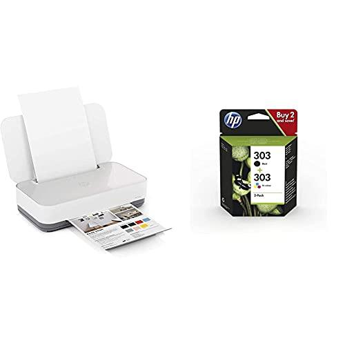 Hp Tango - Impresora Tinta, Color, Wi-Fi + 303Xl 3Yn10Ae Negro Y Tricolor, Cartuchos De Tinta De Alta Capacidad Originales, Pack De 2