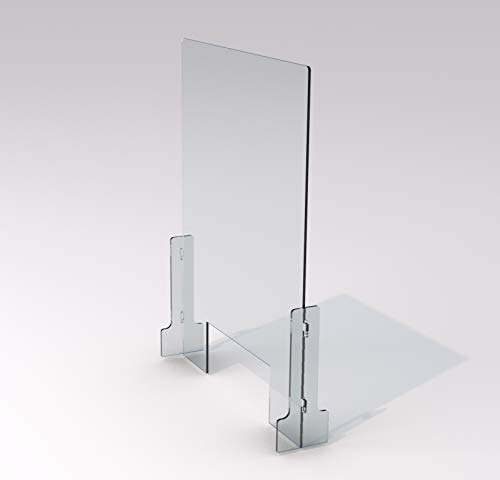 SneezeDefense Acrylic Plexiglass Sneeze Guard Barrier and Shield for Counters (23'W x 35'H)
