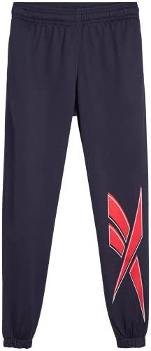 Reebok Boys Fleece Poly Tricot Active Jogger Sweatpants, Size Medium, Navy Vector