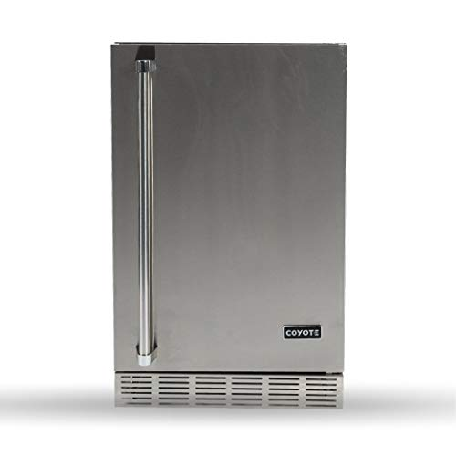 Coyote 21-Inch Outdoor Rated Compact Refrigerator, Right Hinge, 4.1 Cu. Ft, CBIR-R